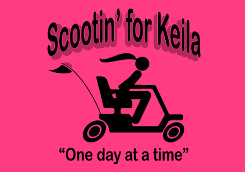 Scootin' for Keila